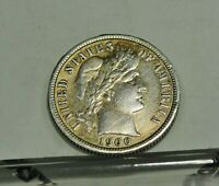 1900 S Barber Dime.  EF With Toning, Not Cleaned . Free Shipping