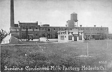 Modesto California Borden's Condensed Milk Factory Antique Postcard V18967