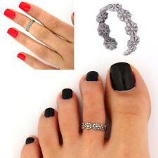 Vintage Plata Anillo del dedo del pie Banda Ajustable para Mujer pie de playa joyas de cuerpo abierto UK
