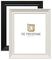 Traditional Photo Frames Wood Effect Picture Frame Black Frames White All Sizes