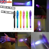 Joblot UV LED Light Pens Invisible Ink Secret Message Gadget Party Bags Filler