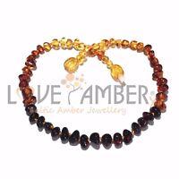 Adult Rainbow Bright Mixed Baltic Amber Bracelet Love Amber X UK Based Seller