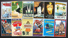 SUPERBE LOT DE 12 CPM PUBLICITES ANCIENNES DIFFERENTES THEMES DIVERS 10/15CM