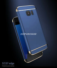 Navy Blue Hybrid 3in1 Slim Hard Back Case Cover For Samsung Galaxy S7 Edge S001