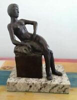"HENRI MATISSE BRONZE SCULPTURE ""SEATED WOMAN"" SIGNED AND NUMBERED"