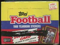 1 SEALED Box 1988 Topps Football Yearbook Stickers 48 Packs
