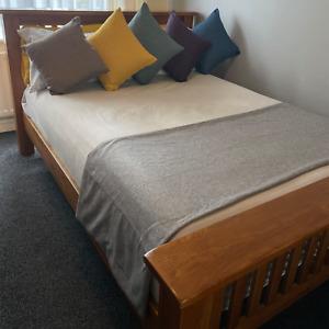 High Quality Handmade Herringbone Tweed Bed Throw Runner Wool Like Double Sided