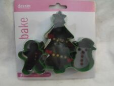 "Dexam Happy Christmas Cookie Cutter, Jumbo 6"" Size, Fondant Biscuits Cookies,NIP"