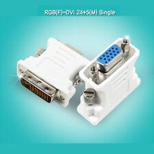 DVI-I 24+5pin Macho a Hembra VGA SVGA HD15 RGB DSUB Convertidor Adaptador de tarjeta de video