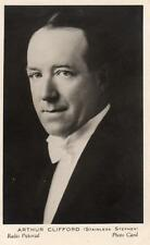 Arthur Clifford  British Radio Pictorial Photo Card Broadcasting BBC 1930's