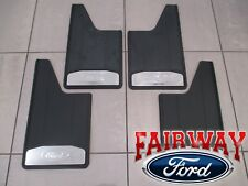 15 thru 20 F-150 OEM Ford Splash Guards Mud Flaps w/ Stainless Inserts 4-pc Set