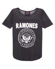 Amplified Ramones Seal Logo Women's Sheer Panel T-shirt Medium