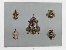 Gold-Schmied Brosche Teufel Kreuz Rubin Perlen Drache Lindwurm Silber Juwelier