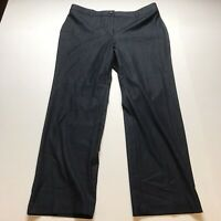 Chicos Size 2.5 Short Dark Blue Straight Leg Dress Pants A1536