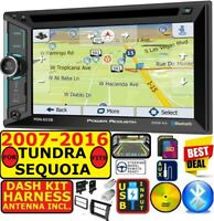 FITS 2007-16 TOYOTA TUNDRA-SEQUOIA NAVIGATION BLUETOOTH CD/DVD USB AUX SD RADIO
