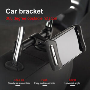 Car Seat Back Rear Holder 360° Rotating Stands For Mobile Phone Tablet  New