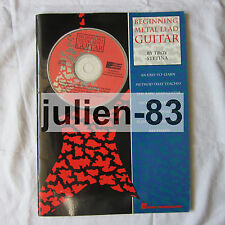 BEGINNING LEAD METAL GUITAR TROY STETINA METHOD BOOK AUDIO CD tablature VGC