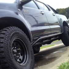Dominator 4x4 Rock Sliders Toyota Hilux N70 2005 onwards Dual Cab Powder coated