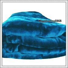 Turquoise 4KG Supersoft Thick QUEEN KING BED MINK Blanket / Bedspread Brand New