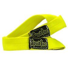 "Spud Inc 1.5"" Wrist Straps Yellow 1 Pair of Wrist Wraps"