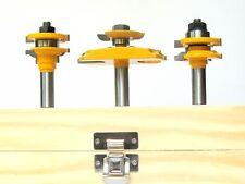 3pc 12° w/ Back Cutter  Raised Panel & Bead Rail & Stile Router Bit Set  sct-888