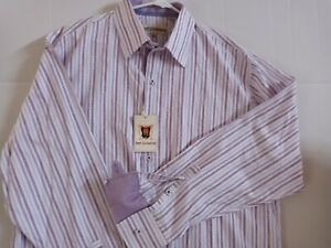 New with Tags H20 Collection Stripe Button Down Long Sleeve Shirt Size XL  $65
