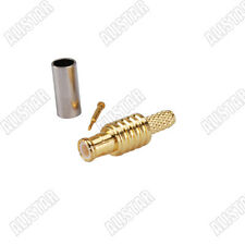 MCX Plug male straight Crimp Connector for RG316 RG179 RG174 LMR100 cable