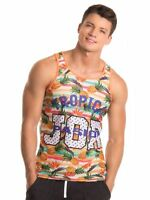 Jor 0248 Piña Tapa Del Tanque de los Hombres Camiseta Tirante Multicolor