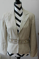 STUDIO V by Versailles Brown Lined Beaded Blazer Jacket Sz 10 L#309