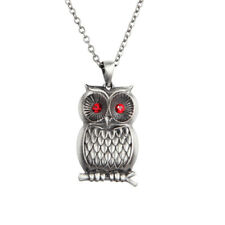 Owl Necklace w Red Eyes.