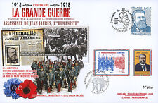 "CENT-18 Maxi FDC FRANCE ""100 ans Grande Guerre - Assassinat de Jean JAURES"" 2014"