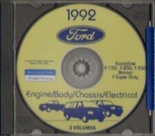 FORD 1992 Bronco, Econoline, F150-F350 & Super Duty Pick Up Truck Shop Manual CD