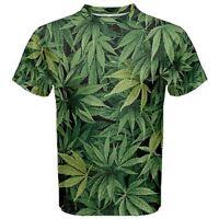 Weed Marijuana Leaf Sublimated Men's T-Shirt Sport Mesh Tee XS-5XL free shipping