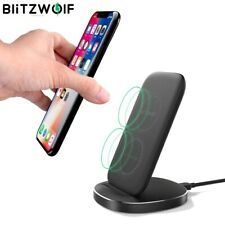 Fwc6 10w 7.5w 5w Dual Coils Qi Smart Wireless Fast Charger Stand Holder Iphone