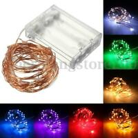 10M 100LED Battery Powered Copper Wire String Fairy Lights Xmas Party Wedding