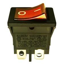 Rocker Switch en (apagado) DPST Rojo Negro Luz: 230VAC 13x19mm
