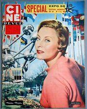 ►CINE REVUE 22/1958-MICHELE MORGAN-WILIAM HOLDEN-KIRK DOUGLAS-EDDIE FISHER-CORDY