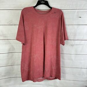 Lululemon XL Camo Metal Vent Tech Breathe Short Sleeve Tee Athetic T-Shirt Mauve