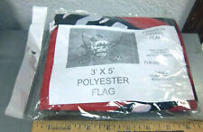 Crimson Pirate Flag 3 x 5 foot fabric flag wall banner w/ grommets, Fl#300 red