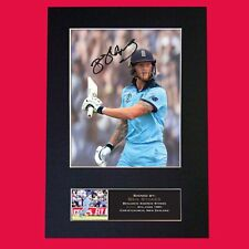 More details for ben stokes cricket signed reproduction autograph mounted photo print a4 813
