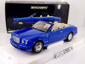 Minichamps 1:18 scale Bentley Azure Cabriolet 2006 (Blue Metallic) RARE
