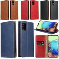 FIERRE SHANN Wallet Case Cover For Samsung Galaxy A31 A21s A71 A51 5G A80 70 M11