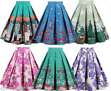 PLUS SIZE ZAFUL Women Floral Summer Skirt 50's Vintage Swing Pinup Dress
