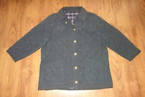 VINTAGE BURBERRY QUILTED JACKET , BLUE, GOOD CONDITION, SIZE XL
