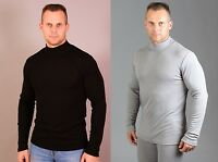 100% Merino wool. UT ThermoActive men SOFT high neck Shirt Base Layer(2503)