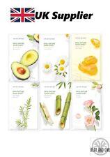 Real Nature Mask Sheet:ROYAL JELLY, TEA TREE, CHAMOMILE, BAMBOO, AVOCAO, ROSE UK