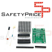 Kit para ensamblar display matriz 8x8 LED con MAX7219 Arduino Raspberry