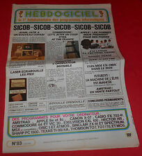 Magazine Hebdogiciel [n°83 17 Mai 85] NO TILT  MSX Atari Commodore Ti-99 *JRF*