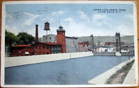 1917 NY Postcard: 'Upper Lock Barge Canal - Little Falls, New York'