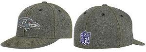 NFL Baltimore Ravens Reebok 210 Premium End Zone Flat Visor / Brim Flex Hat Cap